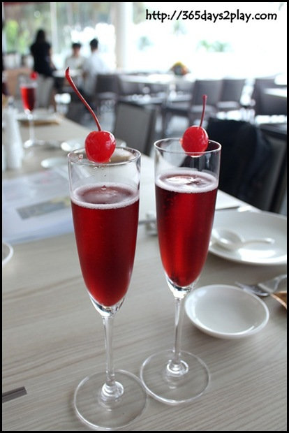 Boxing Crab Seafood Restaurant - Kir Royale (champagne with creme de cassis)