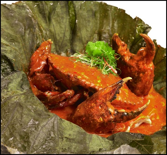 Chilli Crab in lotus leaf