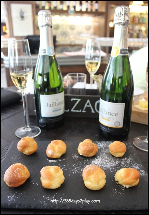 Jaillance Event at Balzac Brasserie - French choquette and Vanilla Cream