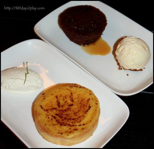 Marmalade Pantry at the Stables - Sticky Date Pudding and Lemon Brulee Tart ($14 each)