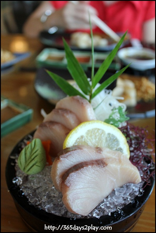 Miyako Japanese Restaurant - Hamachi (Yellowtail) Sashimi $30
