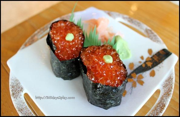 Miyako Japanese Restaurant - Ikura Sushi also known as Salmon Roe Sushi $15 (2)