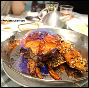 "Majestic Bay - 冠华咖啡焗肉蟹 Live crabs, Bay's signature ""Kopi"" sauce (Market price $56 per kg on 8th Nov 2012) (2)"