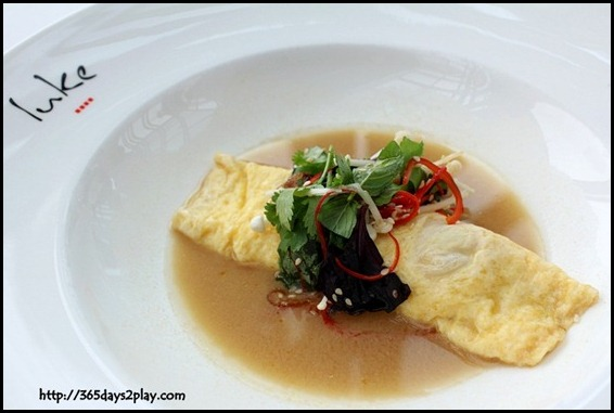 Salt Grill & Sky Bar - Glass Sydney Crab Omelette, Miso Mustard Broth (1)