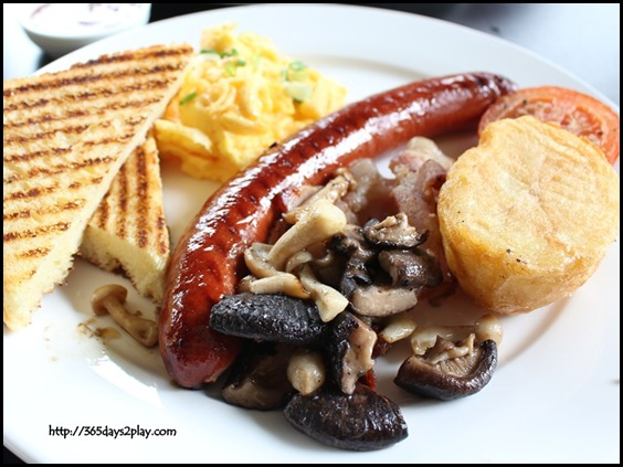 Spruce - Spruce Big Brekkie (eggs, Bacon, German Sausage, Roasted Tomato, Roasted Potato, Mushrooms and Foccacia Toast) $19