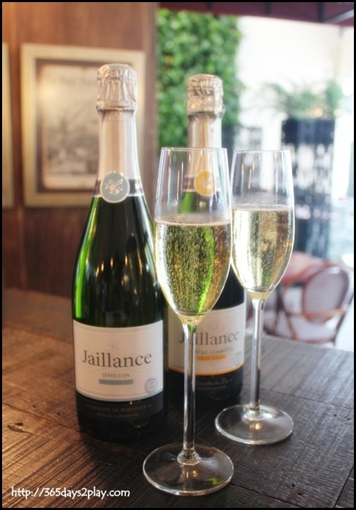 Jaillance Event at Balzac Brasserie -  brut Sémillon from Bordeaux and the demi-sec Muscat, Clairette from Die