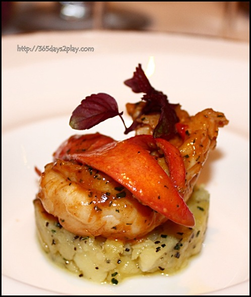 St Regis Brasserie Les Saveurs - Poached maine lobster, fork mashed potatoes, black truffle, bisque jus (2)