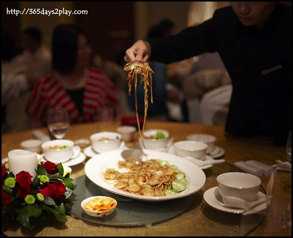 Four Seasons Hotel Wedding - Braised E-Fu Noodles with Assorted Seafood