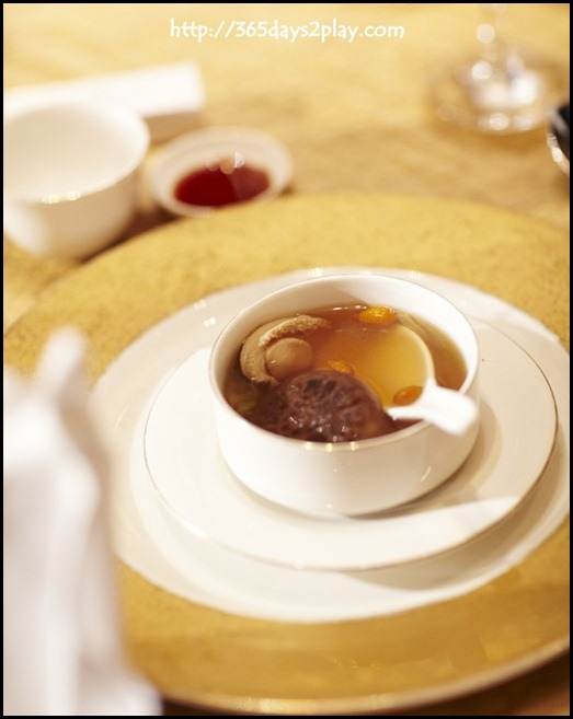 Four Seasons Hotel Wedding - Double-boiled Abalone Soup with Chinese Cabbage and Black Mushroom