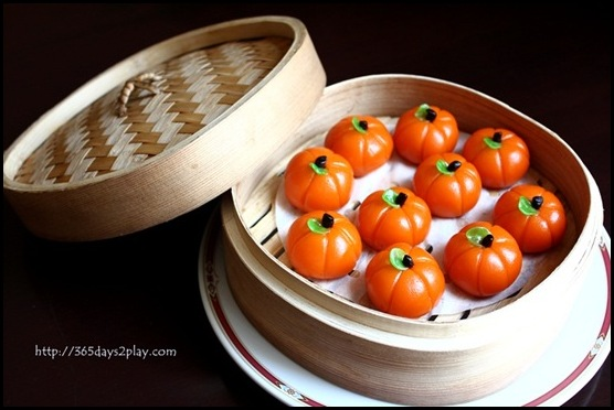 Grand Park Hotel CNY - Steamed Mini Pumpkin Dumpling with Green Bean Paste