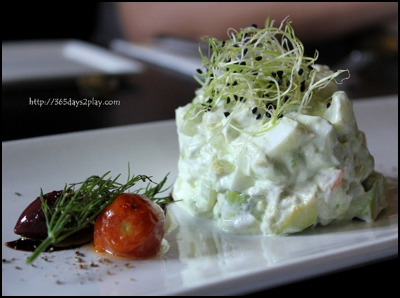 STREET 50 - Tartare of prawn, avocado, celery and egg white topped off with sour cream aioli and tomato confit $12 (1)