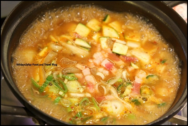 Bornga - Chadol Duenjang Jjigae (a traditional Korean soybean paste stew with beef; $16)