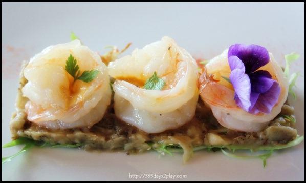 Il Lido Sentosa - Prawns with Eggplant Caviar (2)