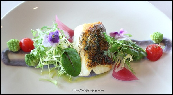 Il Lido Sentosa - Silver Cod with Vitelotte Garlic Fondue and Romanesco $45 (1)