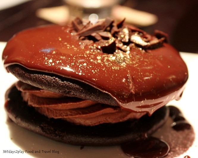 Double Chocolate Whoopie Pie ($16) Chocolate sponge cake sandwiched ...