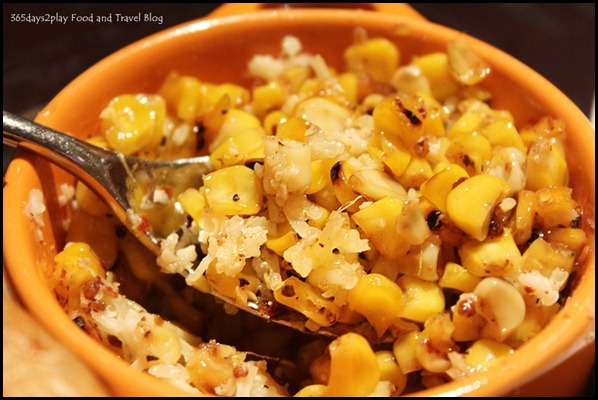 The Pelican Seafood Bar & Grill - Wood-grilled Corn ($12) is tasty with sheep's milk cheese, chilli and squeeze of lime