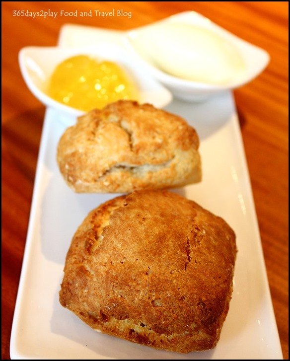 Afternoon Tea at Halia Raffles Hotel - Scones with Clotted Cream