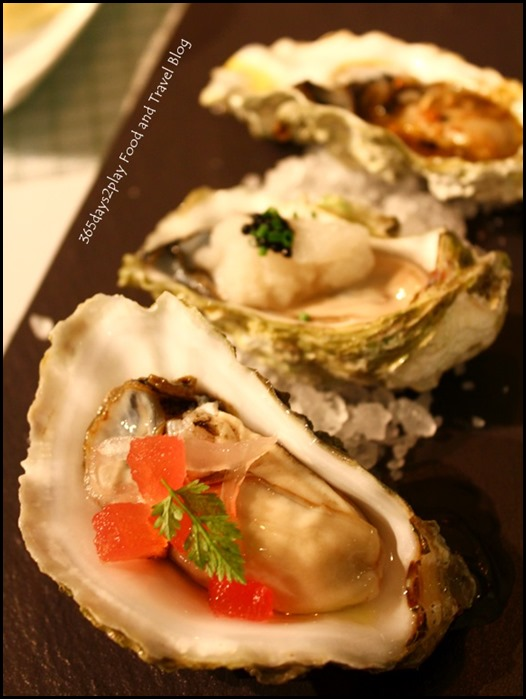 Oysters in 3 ways