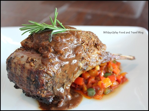 Sunray Cafe - Cumin Crusted Lamb Rack with Ratatouille and Rosemary Sauce $23 (1)