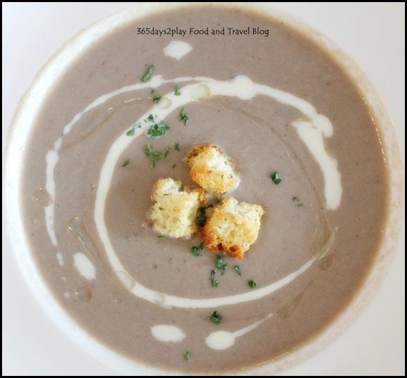 Sunray Cafe - Wild Mushroom Soup with truffle oil $7.90