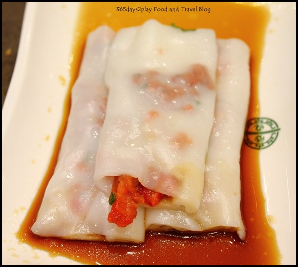 Tim Ho Wan - Vermicelli roll with Char Siew