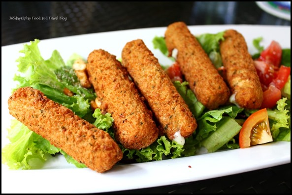 Bark Cafe - Tomato Fried Cheese Salad $14 (1)