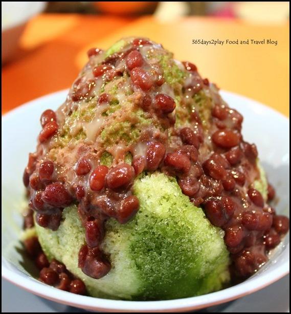 Jin Jin Dessert - Red Bean Green Tea Ice (2)