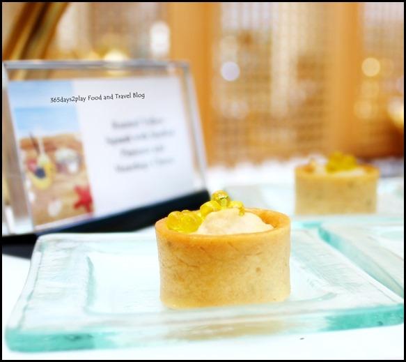 Ritz Carlton Afternoon Tea -  Hummus Tart with Olive Caviar (1)