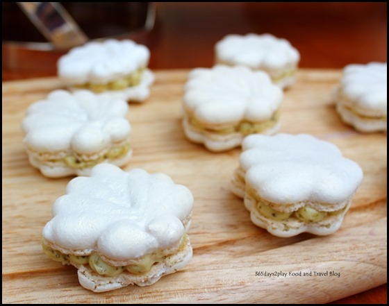 Ritz Carlton Afternoon Tea - Shell Shaped Macarons with Olive Butter (2)
