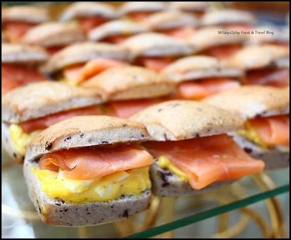 Ritz Carlton Afternoon Tea - Smoked Salmon and Egg in Olive Foccacia (2)