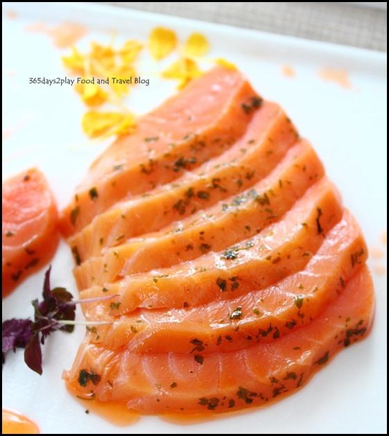 Rise Restaurant Marina Bay Sands - Smoked Salmon