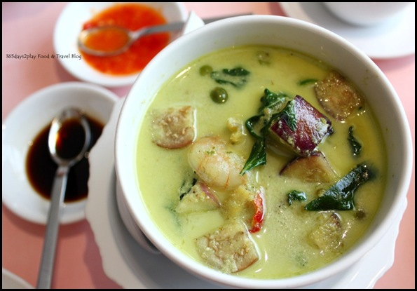 Thanying - Gaeng Keow Wahn Goong (Green Curry with Prawns) $20