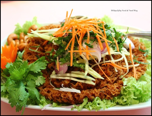 Thanying - Yam Pla Dook Foo (Deep-fried fluffy crisp catfish flake seasoned with lemon sauce) $22 (2)