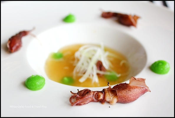 Wine Universe Oenotheque - Hotaru  with apple and celery iberico ham stock