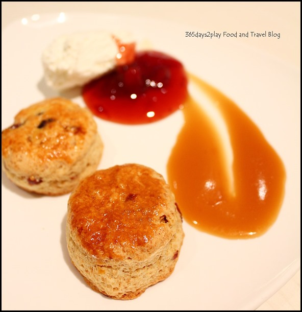 Scones with Cream, Jam and Caramel Sauce (2)