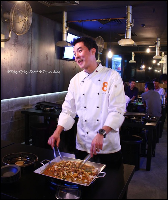 Eight Korean BBQ Chul Pan specialty hot grill – beef brisket ($17)