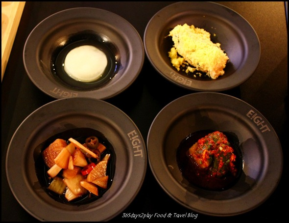 Eight Korean BBQ Complimentary banchan