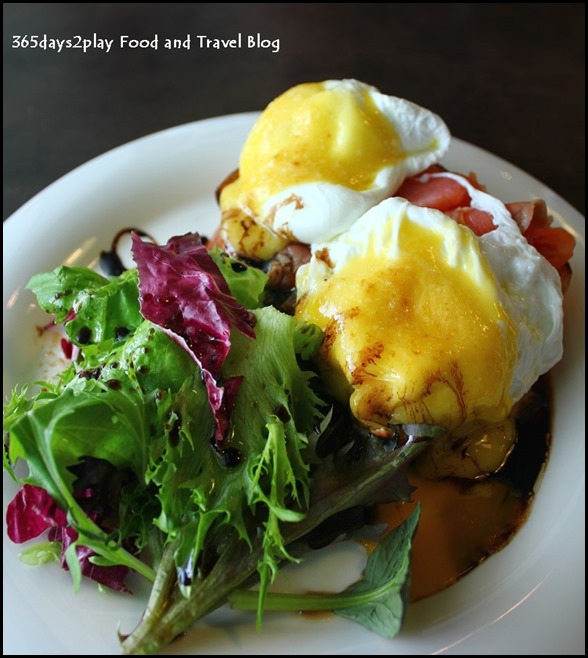 Backstage Cafe -Smoked Salmon Eggs Benedict $15 (1)