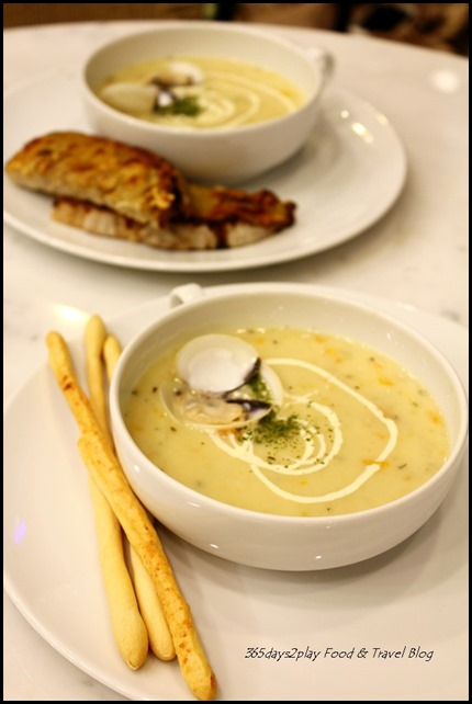 Bread Society - Clam Chowder $6.90 with Grissini or $7.90 with Blue Cheese Toast