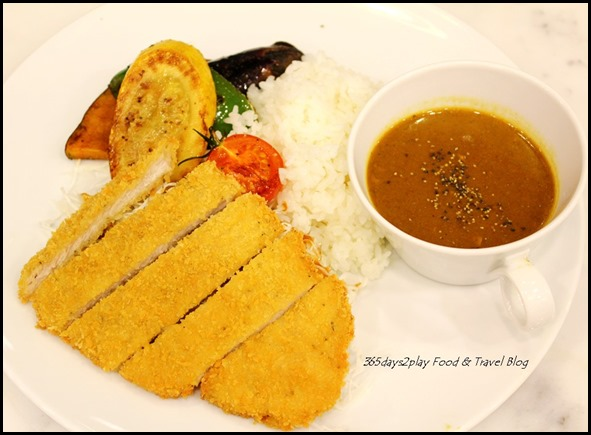 Bread Society - Katsu Curry Rice $13.80 available only from 12pm to 2pm (Golden fried tonkatsu pork loin with rich Japanese potato curry, Japanese rice, shredded cabbage and thick cut grilled vegetables