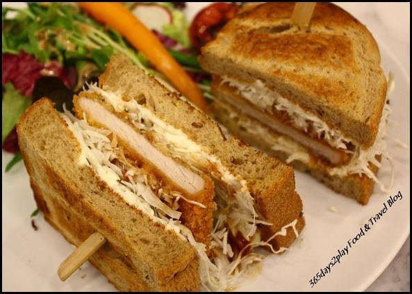 Bread Society - Katsu Sandwich $13.80 (Tonkatsu pork loin, shredded cabbage, tonkatsu sauce between dark rye multi-grain toast)