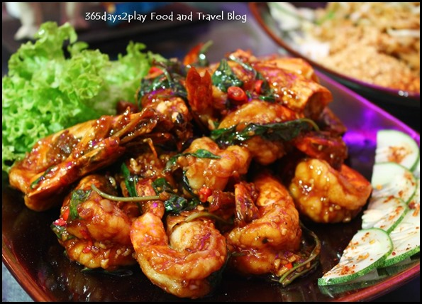 Goong Ka Pao (Stir-fried prawn with Thai Basil)