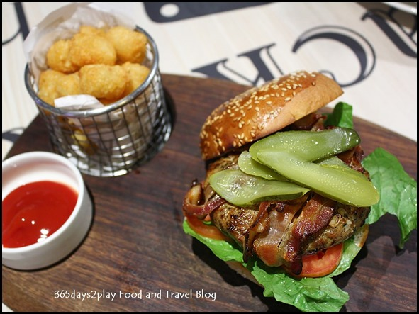 The Chop House - Bacon, Guacamole and Chicken Burger $18
