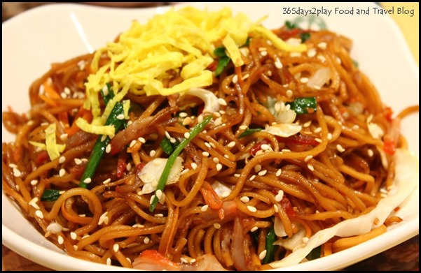 Tim Ho Wan - Fried Noodle with BBQ pork and soy sauce $6