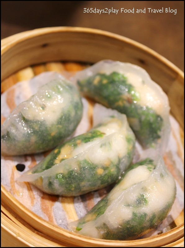 Tim Ho Wan - Steamed spinach dumpling with Shrimp $3.80