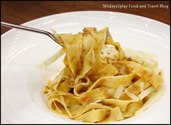 Zafferano - Pappardelle al ragu d'anatra (Homemade pappardelle pasta with duck ragout $27
