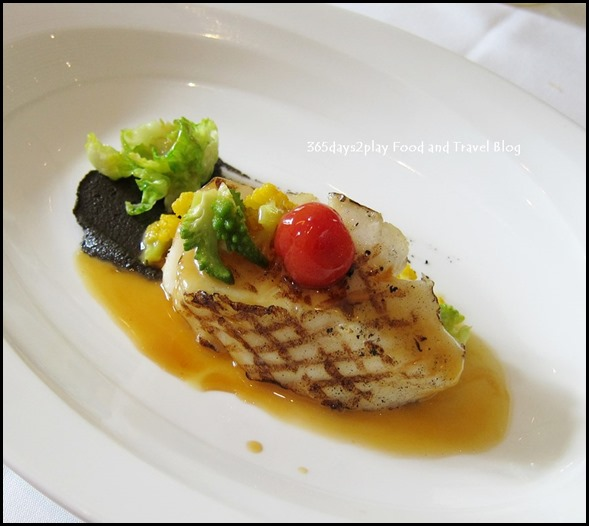 Au Jardin Wedding - Grilled chilean seabass with black olive puree, confit of tomato (1)