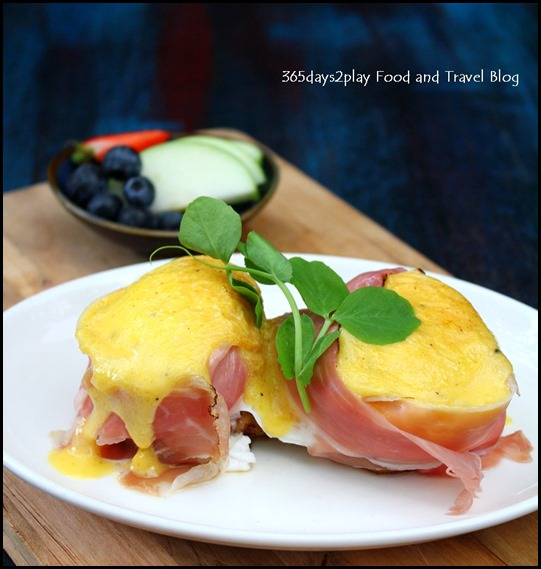 Intrepid Gastro Bar - Benedict Twins – With proscitto or house-smoked salmon, potato rosti, and hollandaise ($16 ) (2)