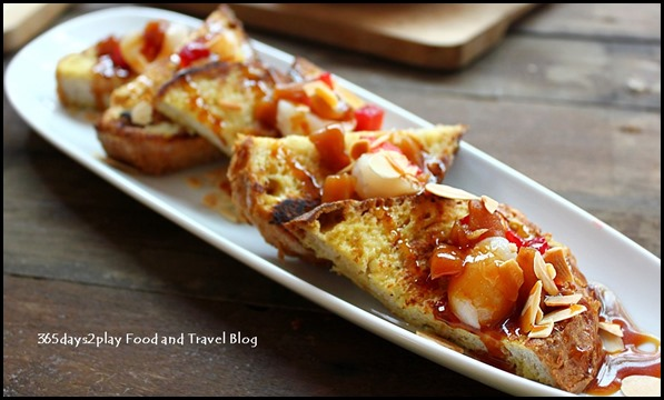 Intrepid Gastro Bar - French Toast – Stewed apples, lychees, caramel and almonds ($13 ) (2)