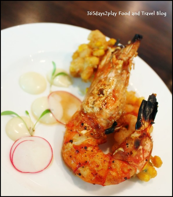 Prive Grill - Hokkaido Corn and Shrimp Fritter with Lime Aioli by Chef Robin Ho (2)